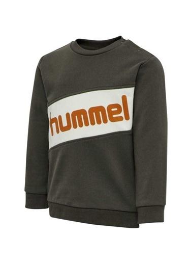 Hummel Hummel 2081238288 Clement Bisiklet Yaka Baskılı Erkek Çocuk Sweatshirt Siyah